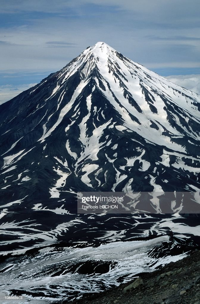 Koryaksky is a stratovolcano on the Kamchatka peninsula in Russia in 1993.