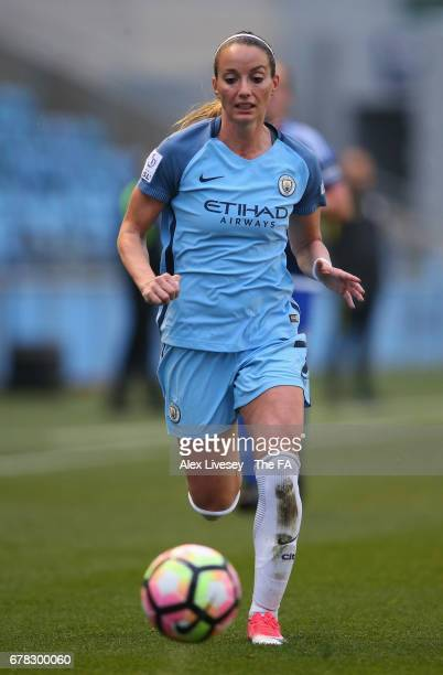 Kosovare Asllani of Manchester City Women chases the ball during the WSL 1 match between Manchester City Women and Birmingham City Ladies at City...