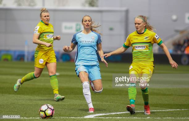 Kosovare Asllani of Manchester City Women in action during the WSL Spring Series Match between Manchester City Women and Yeovil Town Ladies at Etihad...