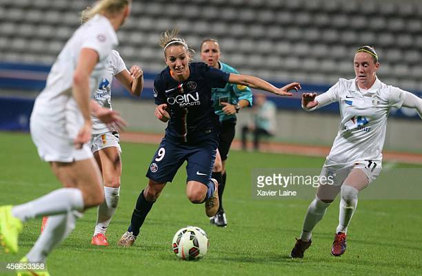 Kosovare Asllani of Paris SaintGermain in action during the Women Division 1 between Paris SaintGermain FC and FCF Juvisy Essonne at Charlety on...