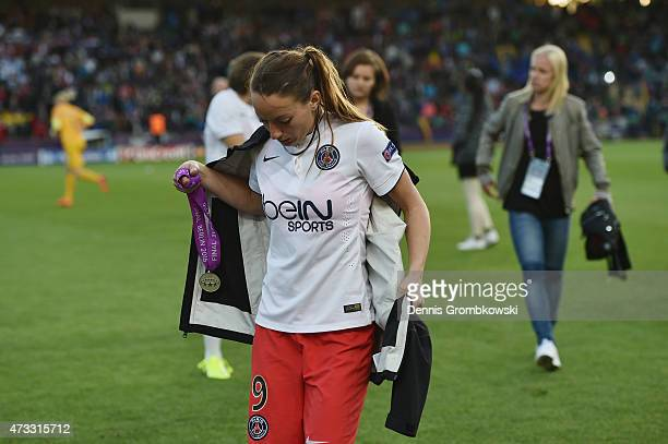 Kosovare Asllani of Paris St Germain looks dejected after the UEFA Women's Champions League Final between 1 FFC Frankfurt and Paris St Germain at...