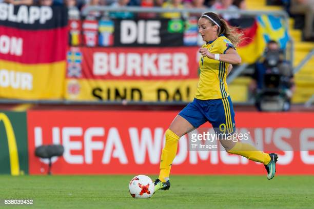 Kosovare Asllani of Sweden controls the ball during the Group B match between Germany and Sweden during the UEFA Women's Euro 2017 at Rat Verlegh...