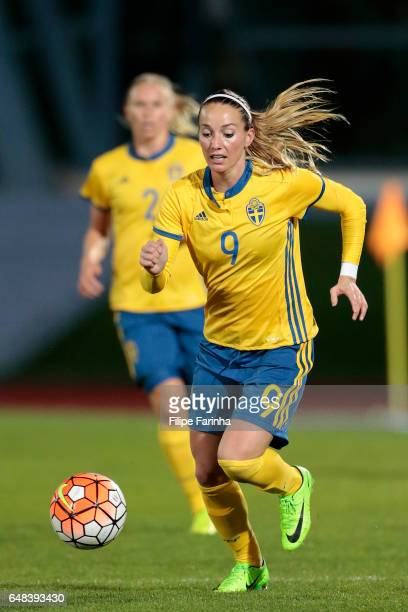 Kosovare Asllani of Sweden during the Algarve Cup Tournament Match between China W and Sweden W on March 3 2017 in Vila Real de Santo Antonio Portugal