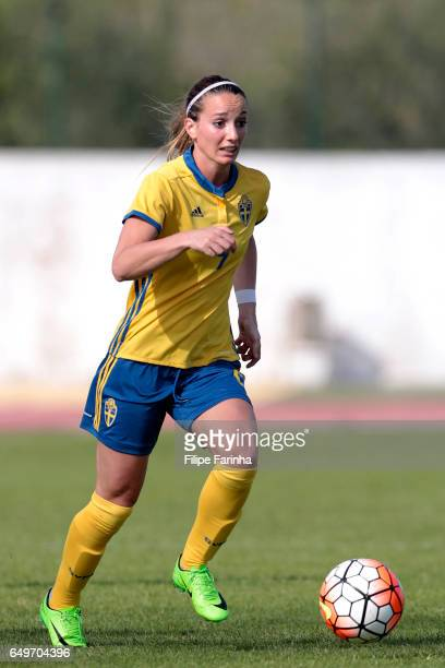 Kosovare Asllani of Sweden during the Algarve Cup Tournament Match between Sweden W and Netherlands W on March 6 2017 in Lagos Portugal