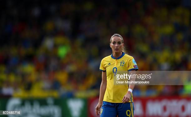 Kosovare Asllani of Sweden looks on during the UEFA Women's Euro 2017 Group B match between Sweden and Italy at Stadion De Vijverberg on July 25 2017...