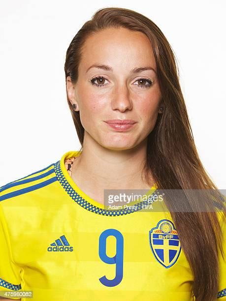 Kosovare Asllani of Sweden poses for a portrait during the team portrait session at the Hilton Hotel on June 4 2015 in Winnipeg Canada