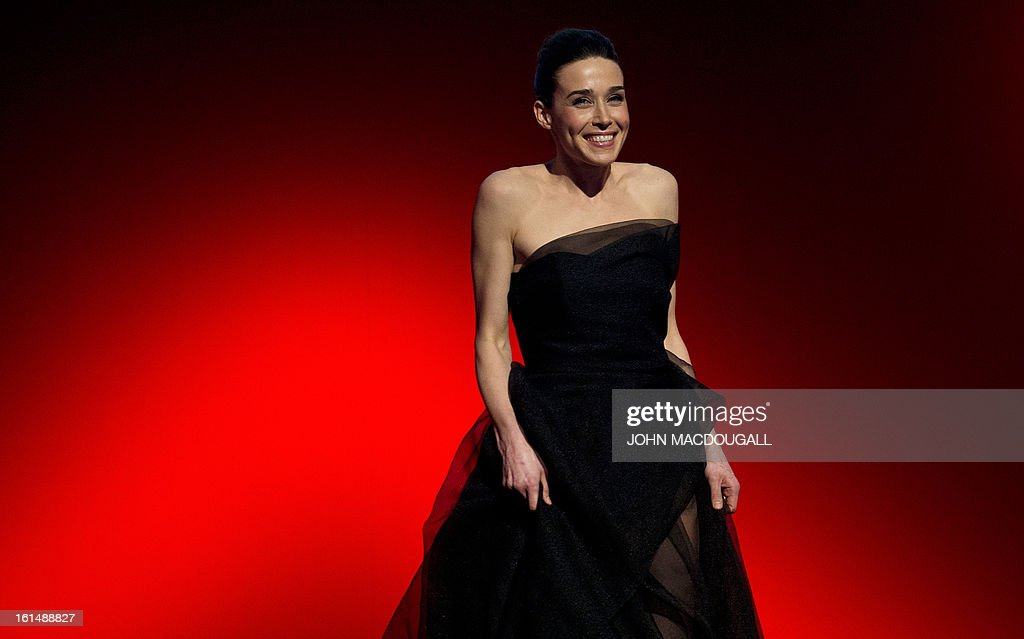 Kosovo actress Arta Dobroshi steps on stage to receive her Shooting Star award during the 63rd Berlinale Film Festival in Berlin February 11, 2013. The Shooting Star awards reward Europe's best young promising actors.