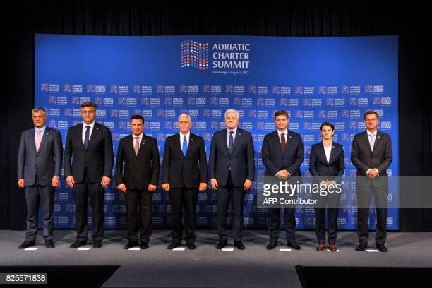 Kosovo President Hashim Thaci Croatian Prime Minister Andrej Plenkovic Macedonian Prime Minister Zoran Zaev US Vice President Mike Pence Montenegrin...