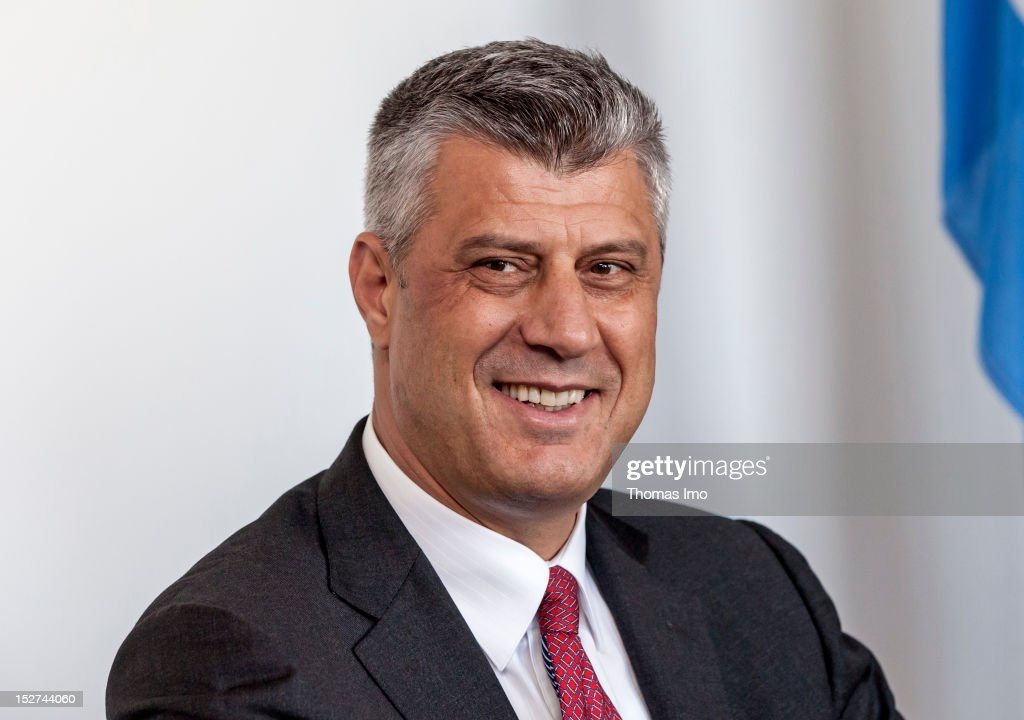 Kosovo Prime Minister <a gi-track='captionPersonalityLinkClicked' href=/galleries/search?phrase=Hashim+Thaci&family=editorial&specificpeople=781147 ng-click='$event.stopPropagation()'>Hashim Thaci</a> before his meeting with Westerwelle on September 24, 2012 in New York City. Timed to coincide with the United Nations General Assembly, CGI brings together heads of state, CEOs, philanthropists and others to help find solutions to the world's major problems