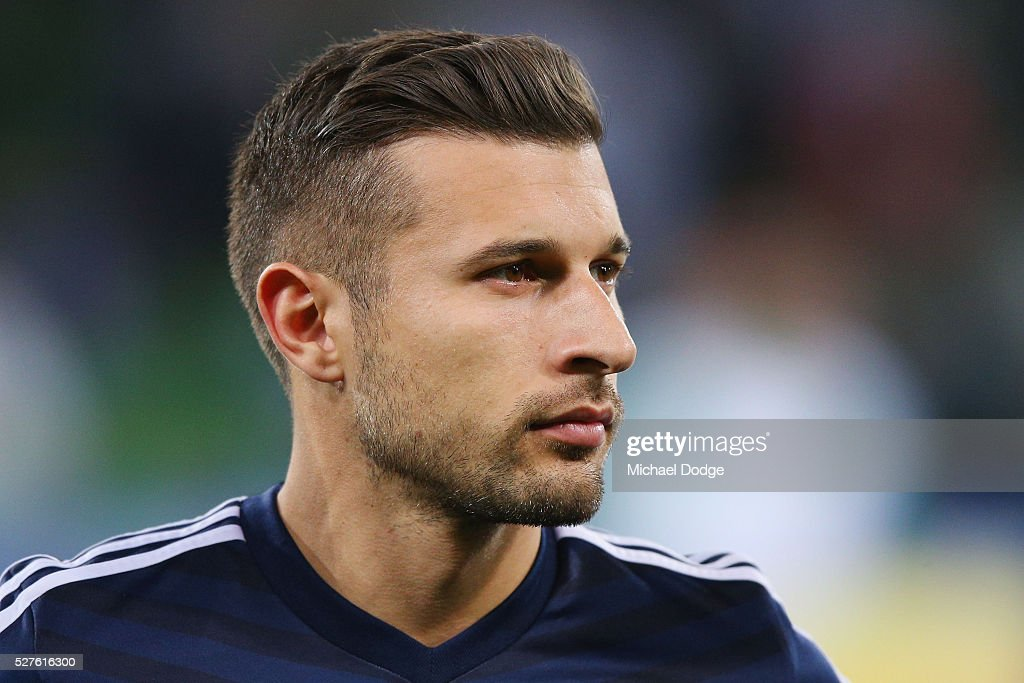 Kosta Barbarouses of the Victory looks on during the AFC Champions League match between Melbourne Victory and Gamba Osaka at AAMI Park on May 3, 2016 in Melbourne, Australia.