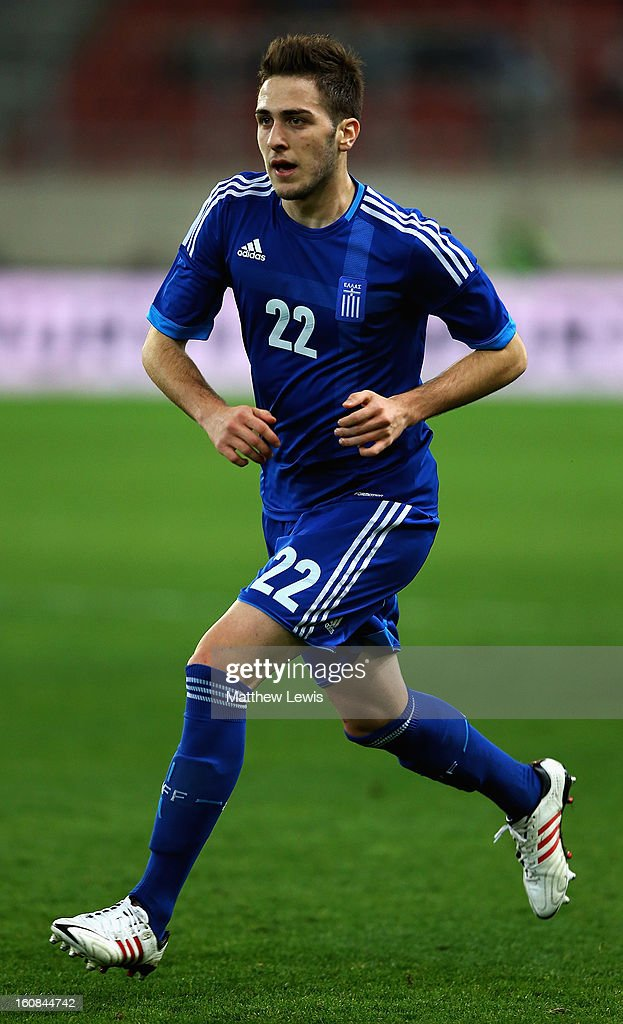 Kostas Fortounis of Greece in action during the International Friendly match between Greece and Switzerland at Karaiskakis Stadium on February 6, 2013 in Athens, Greece.