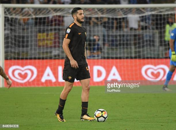 Kostas Manolas during the Italian Serie A football match between AS Roma and FC Hellas Verona at the Olympic Stadium in Rome on september 16 2017