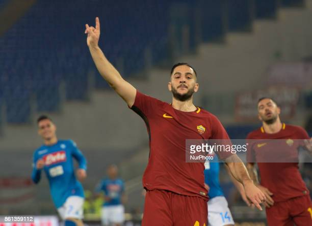 Kostas Manolas during the Italian Serie A football match between AS Roma and SSC Napoli at the Olympic Stadium in Rome on october 14 2017