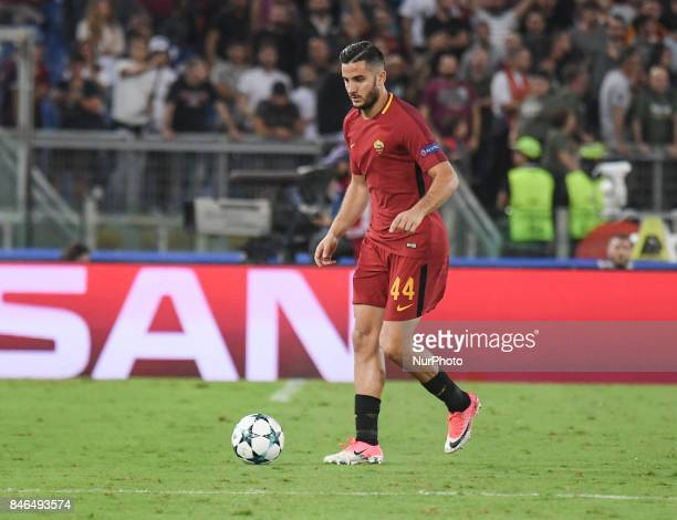 Kostas Manolas during the UEFA Champions League group C football match AS Roma vs Atletico Madrid FC at the Olympic Stadium in Rome on september 12...