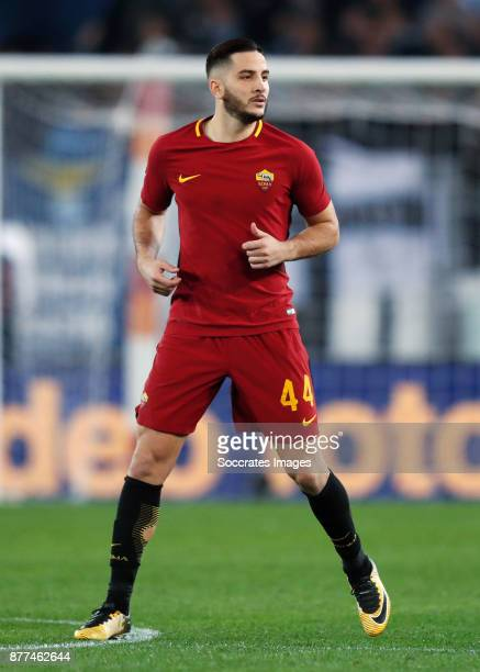 Kostas Manolas of AS Roma during the Italian Serie A match between AS Roma v Lazio at the Stadio Olimpico on November 18 2017 in Rome Italy
