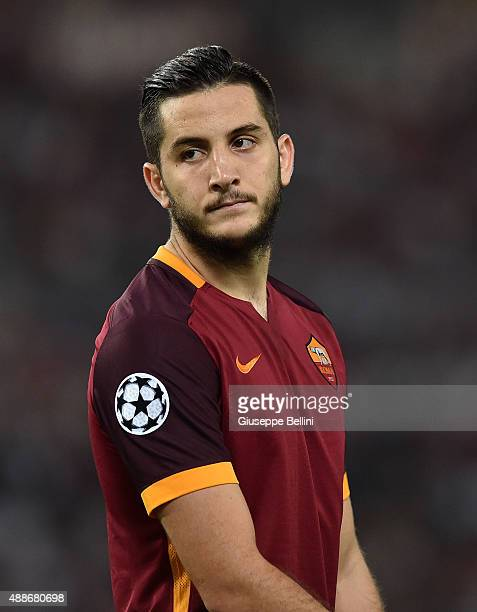 Kostas Manolas of AS Roma during the UEFA Champions League Group E match between AS Roma and FC Barcelona at Olimpico Stadium on September 16 2015 in...