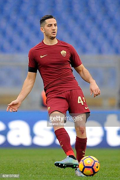 Kostas Manolas of AS Roma in action during the Serie A match between SS Lazio and AS Roma at Stadio Olimpico on December 4 2016 in Rome Italy