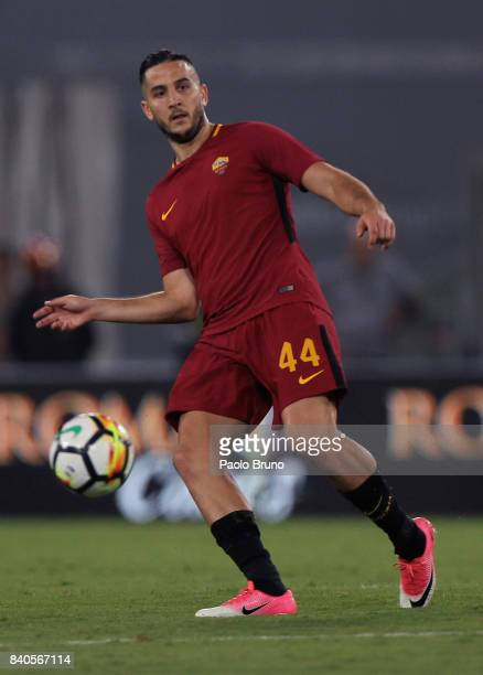 Kostas Manolas of AS Roma in action during the Serie A match between AS Roma and FC Internazionale on August 26 2017 in Rome Italy