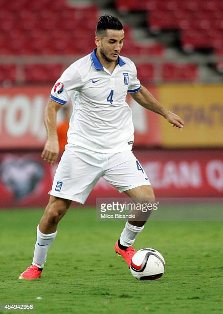 Kostas Manolas of Greeceduring the group F EURO 2016 qualifier between Greece and Romania at Georgios Karaiskakis stadium on September 7 2014 in...