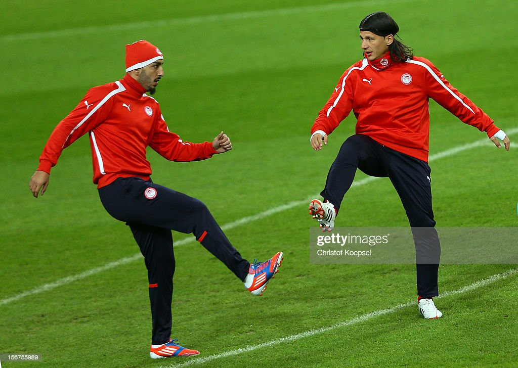 Olympiacos FC Training & Press Conference - UEFA Champions League