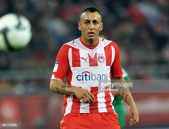 Kostas Mitroglou of Olympiacos FC during the Super League match between Olympiacos FC and Panathinaikos FC held on November 29 2009 at the...