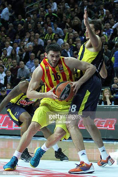 Kostas Papanikolaou of FC Barcelona in action during the 20132014 Turkish Airlines Euroleague Top 16 Date 2 game between Fenerbahce Ulker Istanbul v...