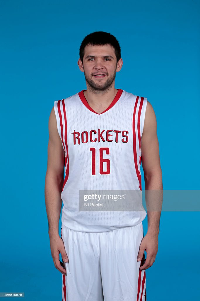 <a gi-track='captionPersonalityLinkClicked' href=/galleries/search?phrase=Kostas+Papanikolaou&family=editorial&specificpeople=5969202 ng-click='$event.stopPropagation()'>Kostas Papanikolaou</a> #16 of the Houston Rockets poses for a photo during Media Day in Houston, Texas.