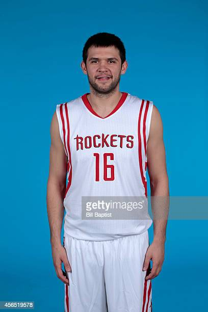 Kostas Papanikolaou of the Houston Rockets poses for a photo during Media Day in Houston Texas NOTE TO USER User expressly acknowledges and agrees...