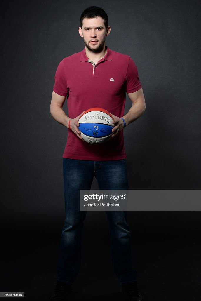 <a gi-track='captionPersonalityLinkClicked' href=/galleries/search?phrase=Kostas+Papanikolaou&family=editorial&specificpeople=5969202 ng-click='$event.stopPropagation()'>Kostas Papanikolaou</a> #16 of the Houston Rockets poses for portraits during the NBAE Circuit as part of 2015 All-Star Weekend at the Sheraton Times Square Hotel on February 13, 2015 in New York, New York.
