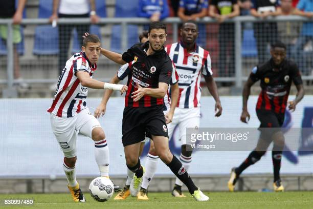 Kostas Tsimikas of Willem II Hicham Faik of Excelsior during the Dutch Eredivisie match between Willem II Tilburg and sbv Excelsior at Koning Willem...