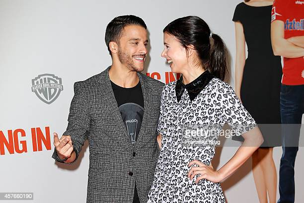 Kostja Ullmann and Aylin Tezel attend the 'Coming In' Premiere in Berlin on October 22 2014 in Berlin Germany