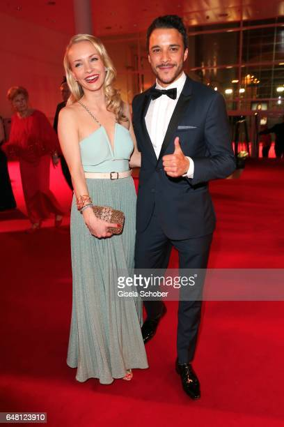 Kostja Ullmann and his wife Janin Ullmann during the Goldene Kamera after show party at Messe Hamburg on March 4 2017 in Hamburg Germany