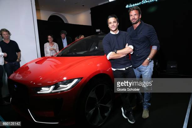 Kostja Ullmann and Stephan Luca during the Jaguar Land Rover presentation of the 'IPACE' car concept at Jaguar Land Rover brand boutique on June 6...