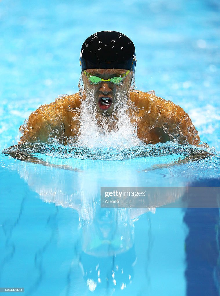 Kosuke Kitajima of Japan competes in the first semifinal heat of the Men's 100m Breaststroke on Day One of the London 2012 Olympic Games at the Aquatics Centre on July 28, 2012 in London, England.