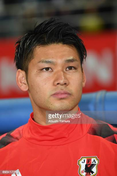 Kosuke Nakamura of Japan looks on during the international friendly match between Japan and Syria at Tokyo Stadium on June 7 2017 in Chofu Tokyo Japan