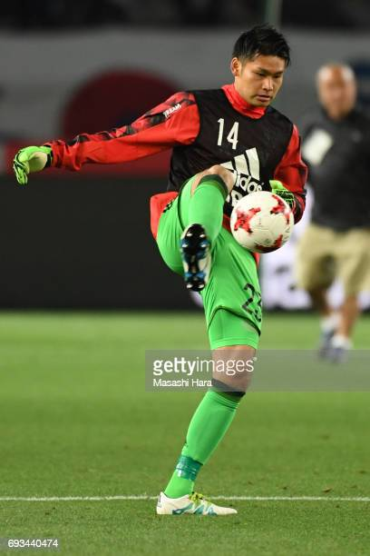Kosuke Nakamura of Japan warms up during the international friendly match between Japan and Syria at Tokyo Stadium on June 7 2017 in Chofu Tokyo Japan