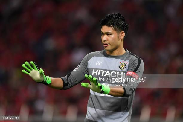 Kosuke Nakamura of Kashiwa Reysol gestures during the JLeague J1 match between Urawa Red Diamonds and Kashiwa Reysol at Saitama Stadium on September...
