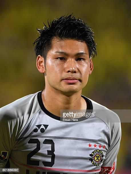 Kosuke Nakamura of Kashiwa Reysol looks on prior to the JLeague match between Kashiwa Reysol and Kashima Antlers at the Hitachi Kashiwa Soccer...