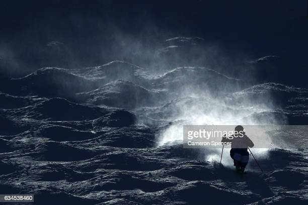 Kosuke Sugimoto of Japan skis during a FIS Freestyle Ski World Cup 2016/17 Mens Moguls training session at Bokwang Snow Park on February 10 2017 in...