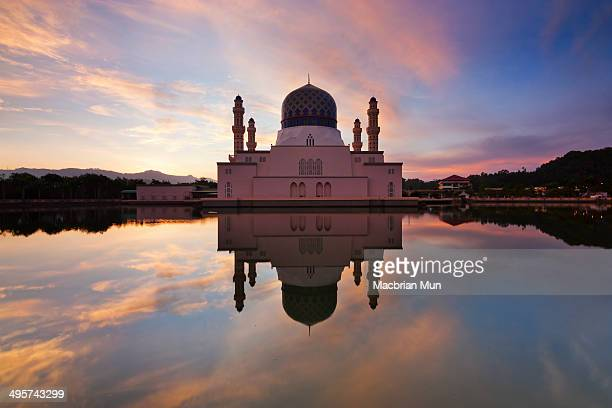 Kota Kinabalu mosque at sunrise in Borneo