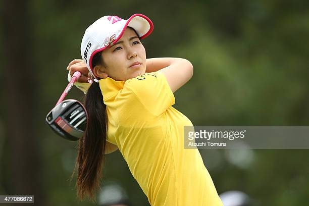 Kotone Hori of Japan hits her tee shot on the 2nd hole during the Suntory Ladies Open at the Rokko Kokusai Golf Club on June 14 2015 in Kobe Japan