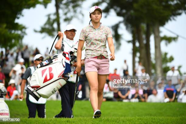 Kotone Hori of Japan looks on during the final round of the Suntory Ladies Open at the Rokko Kokusai Golf Club on June 11 2017 in Kobe Japan