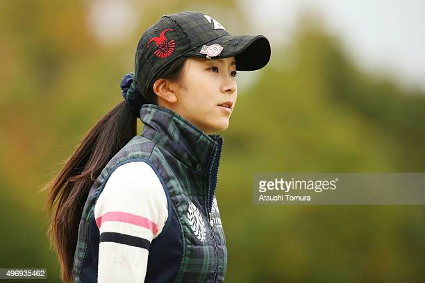 Kotone Hori of Japan looks on during the first round of the Itoen Ladies Golf Tournament 2015 at the Great Island Club on November 13 2015 in Chonan...