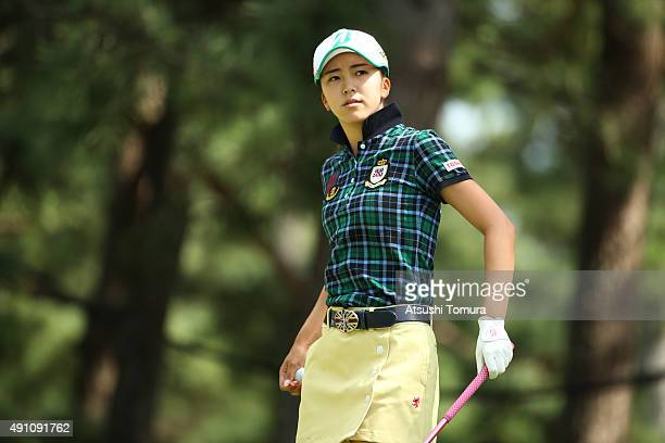 Kotone Hori of Japan looks on during the third round of Japan Women's Open 2015 at the Katayamazu Golf Culb on October 3 2015 in Kaga Japan