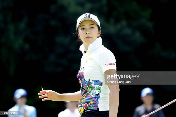 Kotone Hori of Japan on the 5th hole during the final round of the Chukyo Television Bridgestone Ladies Open at the Chukyo Golf Club Ishino Course on...