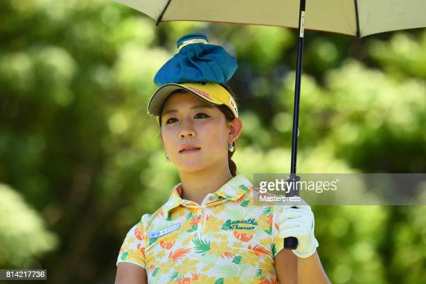 Kotono Kozuma of Japan looks on during the first round of the Samantha Thavasa Girls Collection Ladies Tournament at the Eagle Point Golf Club on...