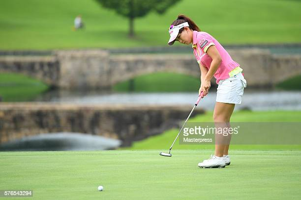 Kotono Kozuma of Japan putts during the second round of the Samantha Thavasa Girls Collection Ladies Tournament 2016 at the Eagle Point Golf Club on...