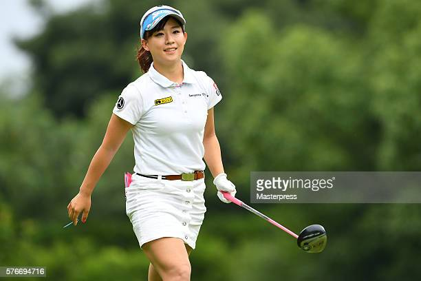 Kotono Kozuma of Japan smiles during the third round of the Samantha Thavasa Girls Collection Ladies Tournament 2016 at the Eagle Point Golf Club on...