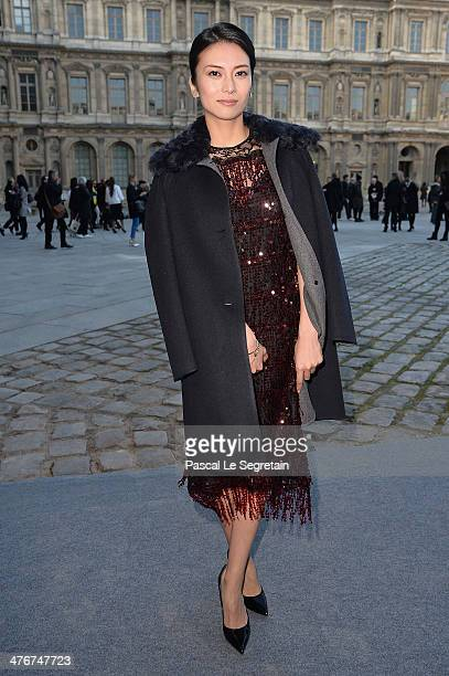 Kou Shibasaki arrives at the Louis Vuitton show as part of the Paris Fashion Week Womenswear Fall/Winter 20142015 on March 5 2014 in Paris France
