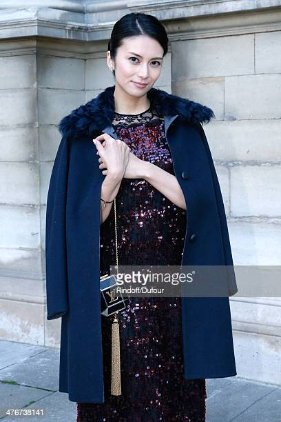 Kou Shibasaki attends the Louis Vuitton show as part of the Paris Fashion Week Womenswear Fall/Winter 20142015 on March 5 2014 in Paris France